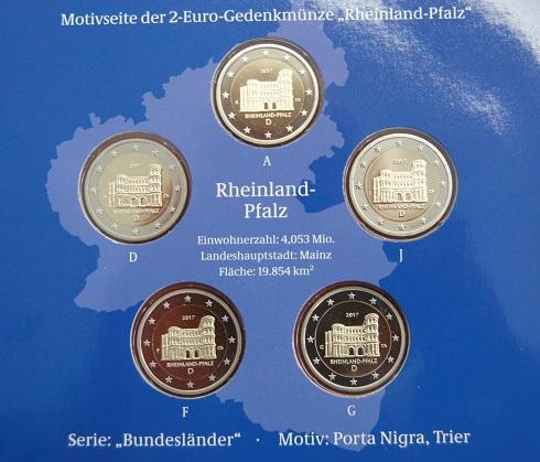 Porta Nigra Oder Hambacher Schloss Neue Zwei Euro Münze Mit
