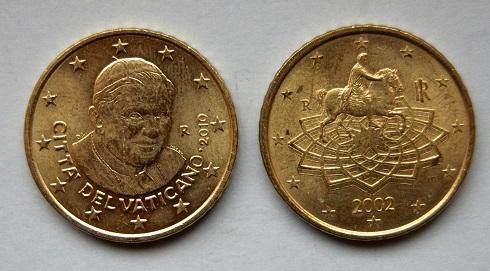 Papstmünzen Ohne Den Papst Euro Münzen Des Vatikans Sind Ab